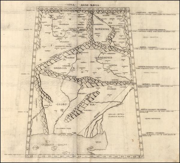 55-India and Central Asia & Caucasus Map By Bernardus Venetus de Vitalibus