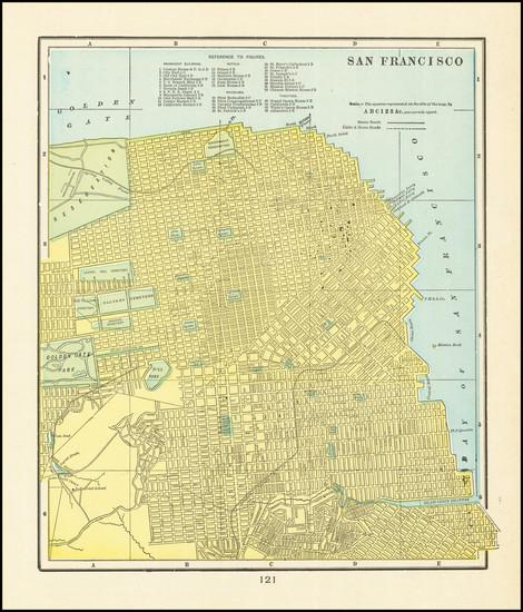 48-San Francisco & Bay Area Map By George F. Cram