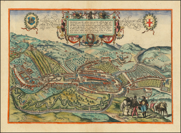 15-Northern Italy and Other Italian Cities Map By Georg Braun  &  Frans Hogenberg