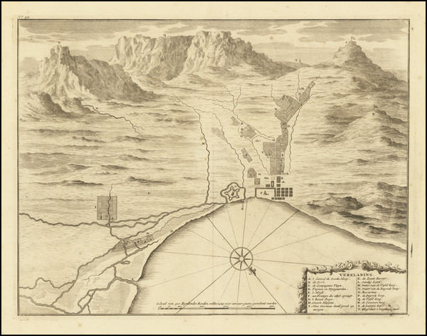 0-South Africa Map By Francois Valentijn