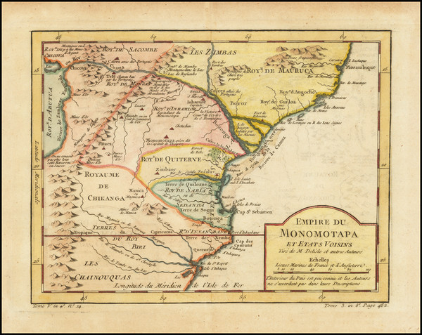 24-East Africa Map By Jacques Nicolas Bellin