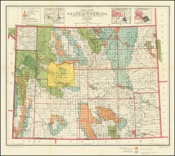 70-Wyoming Map By General Land Office