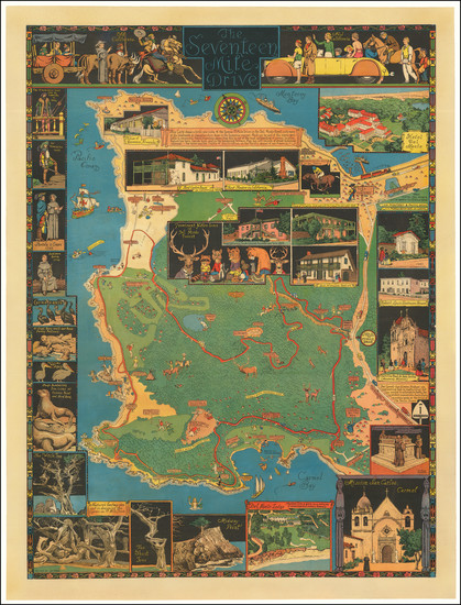 69-Pictorial Maps, California and Other California Cities Map By Jo Mora
