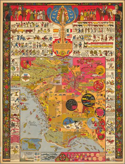 83-California Map By Jo Mora