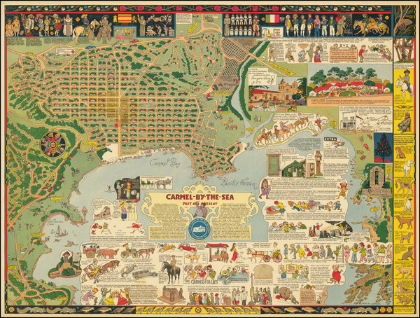 24-Pictorial Maps, California, Other California Cities and Fair Map By Jo Mora