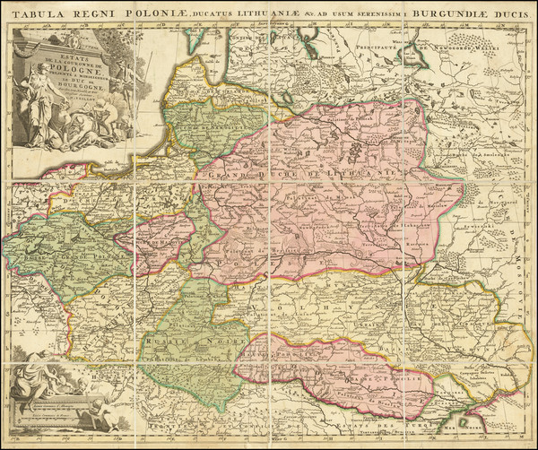 44-Poland and Baltic Countries Map By Alexis-Hubert Jaillot