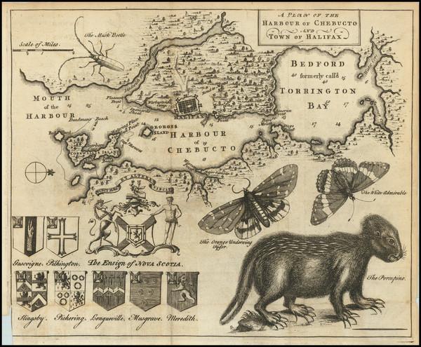 78-Eastern Canada Map By Gentleman's Magazine / Thomas Jefferys