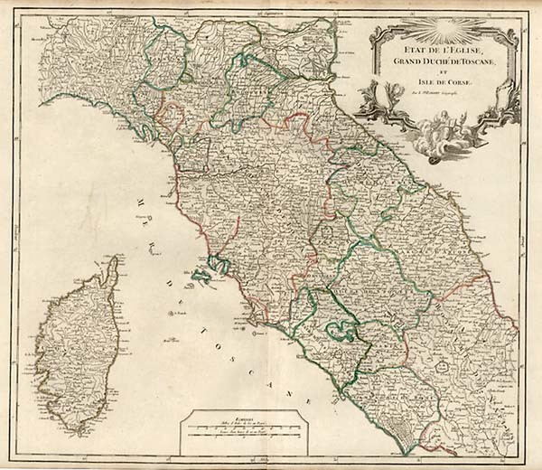26-Europe, France, Italy and Balearic Islands Map By Gilles Robert de Vaugondy / Delamarche