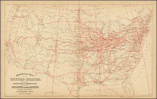 50-United States Map By Samuel Augustus Mitchell Jr.