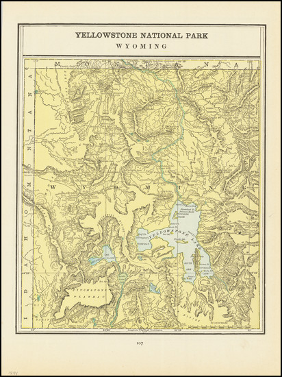 34-Wyoming Map By George F. Cram