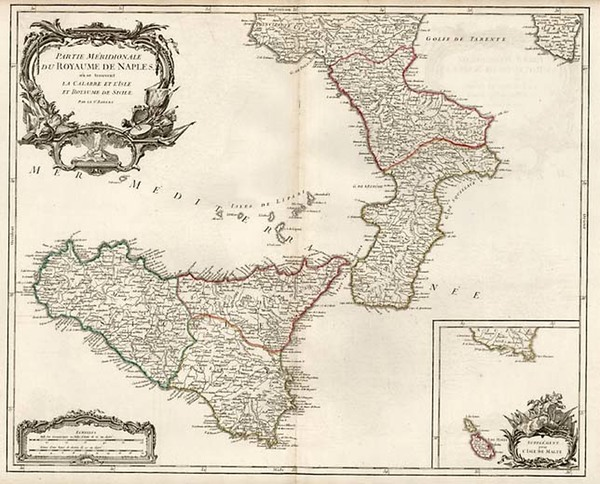28-Europe, France, Italy and Balearic Islands Map By Gilles Robert de Vaugondy / Delamarche