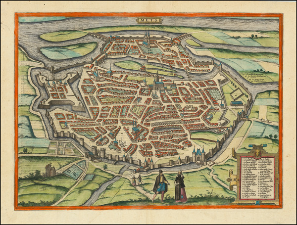 50-Other French Cities and Nord et Nord-Est Map By Georg Braun  &  Frans Hogenberg