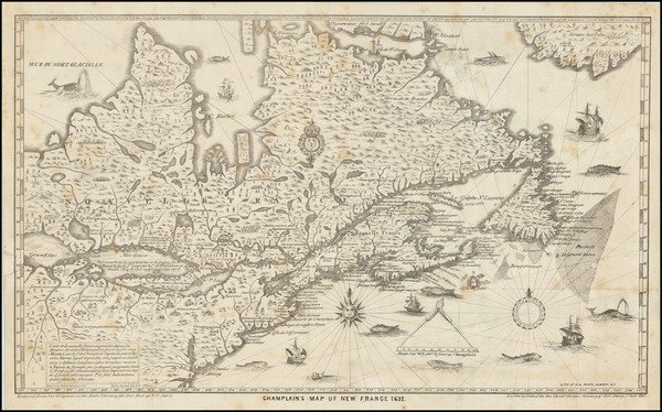 26-United States, New England and Canada Map By Samuel de Champlain