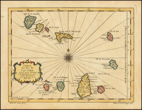 37-West Africa and African Islands, including Madagascar Map By Jacques Nicolas Bellin