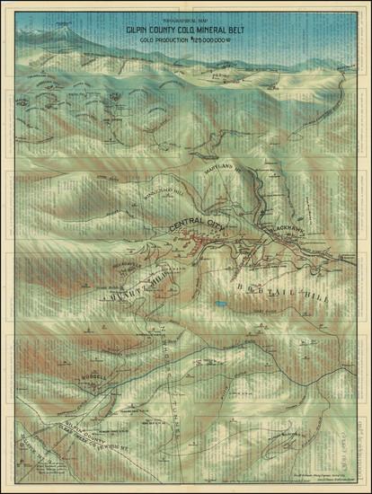 36-Colorado, Colorado and Pictorial Maps Map By George Clason
