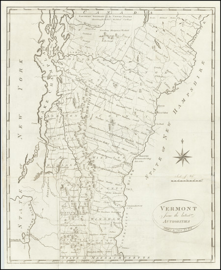 64-Vermont Map By