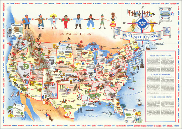43-United States Map By Mary Ronin