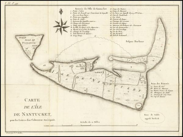 50-Massachusetts Map By Pierre Antoine Tardieu