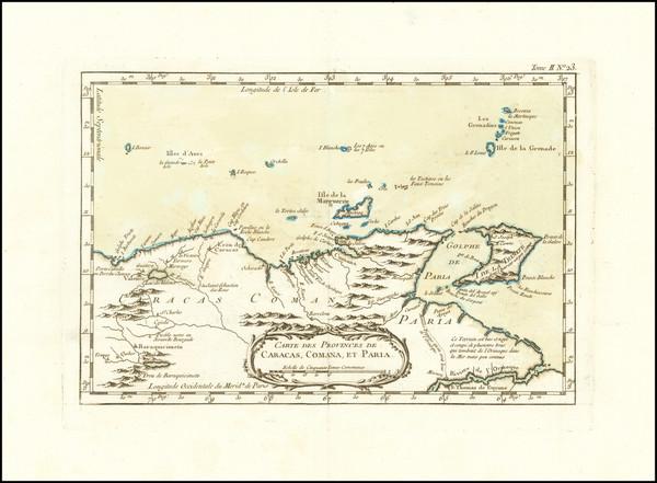 55-Venezuela Map By Jacques Nicolas Bellin