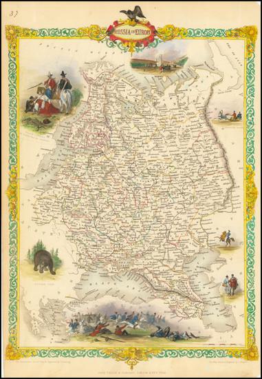 26-Russia and Ukraine Map By John Tallis