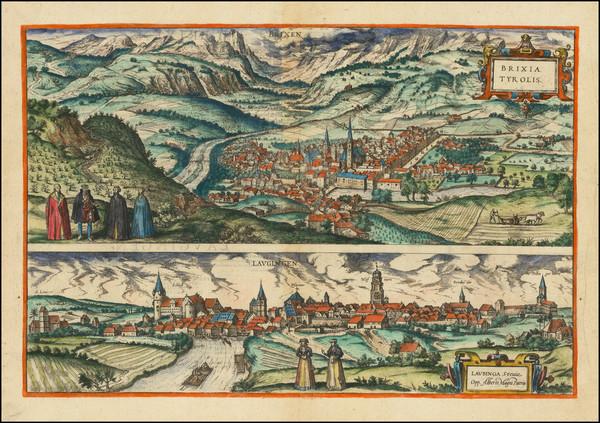 2-Other Italian Cities and Süddeutschland Map By Georg Braun  &  Frans Hogenberg