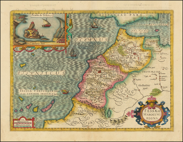 75-North Africa and West Africa Map By Jodocus Hondius