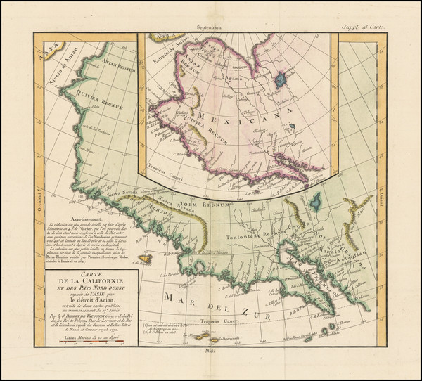 13-Southwest, Alaska and California Map By Denis Diderot / Didier Robert de Vaugondy
