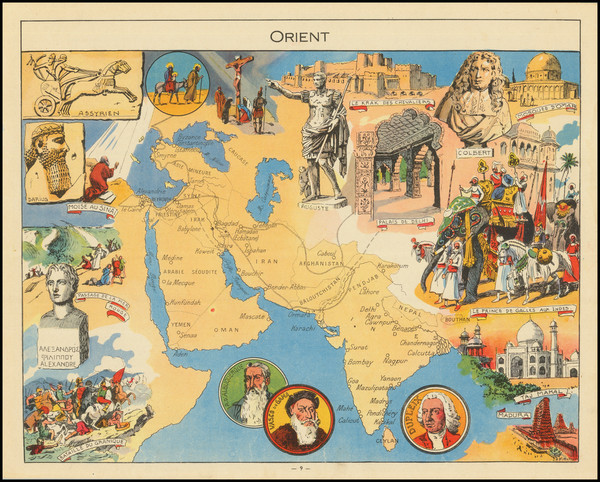85-India, Central Asia & Caucasus, Middle East, Arabian Peninsula, Persia & Iraq and Picto