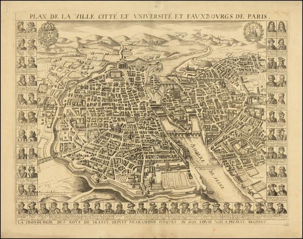 52-Paris and Île-de-France Map By Gerard Jollain