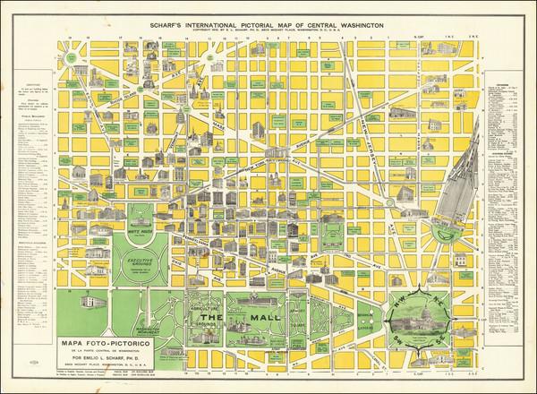 81-Washington, D.C. Map By Emil Ludwig Scharf