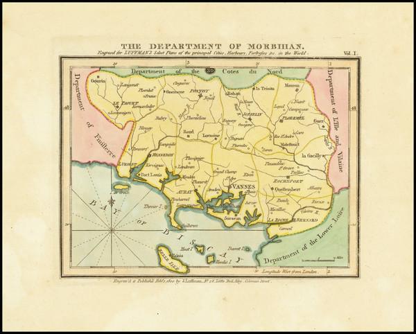 36-Bretagne Map By John Luffman