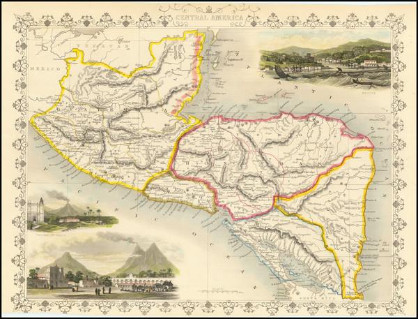 93-Central America Map By John Tallis