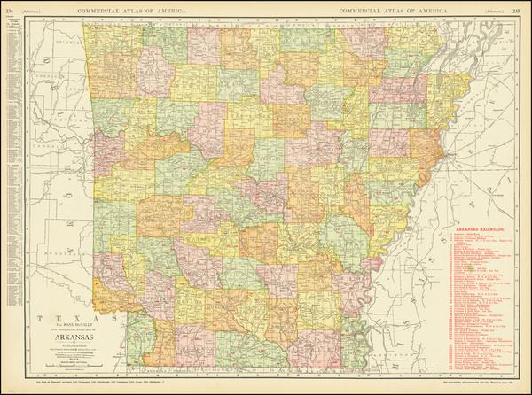 9-Arkansas Map By Rand McNally & Company