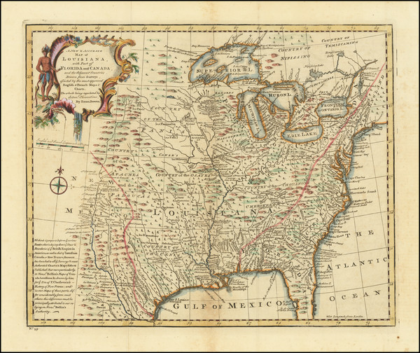 32-United States, Mid-Atlantic, South, Southeast, Texas, Midwest and Plains Map By Emanuel Bowen