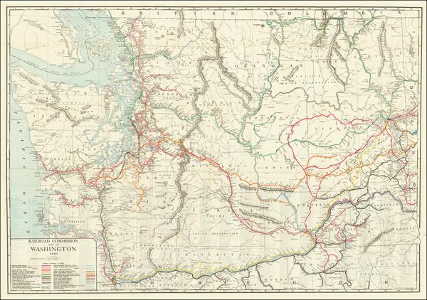 5-Washington Map By Rand McNally & Company