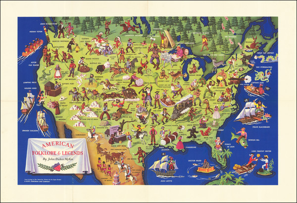 52-United States and Pictorial Maps Map By John Dukes McKee