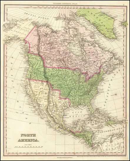 16-North America Map By Henry Schenk Tanner