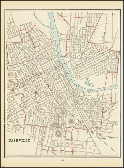 75-Tennessee Map By George F. Cram