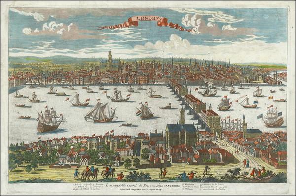 33-London Map By Pierre Alexander Aveline / Etienne Charpentier