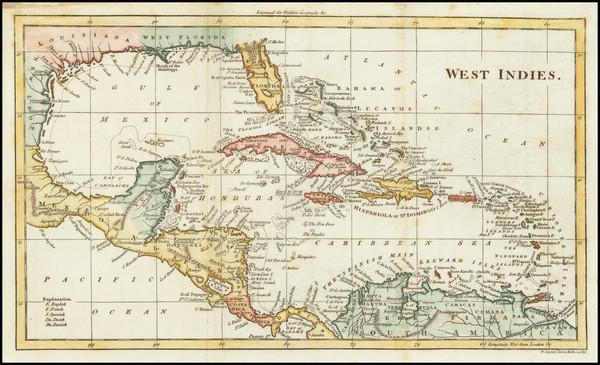44-Caribbean Map By John Walker