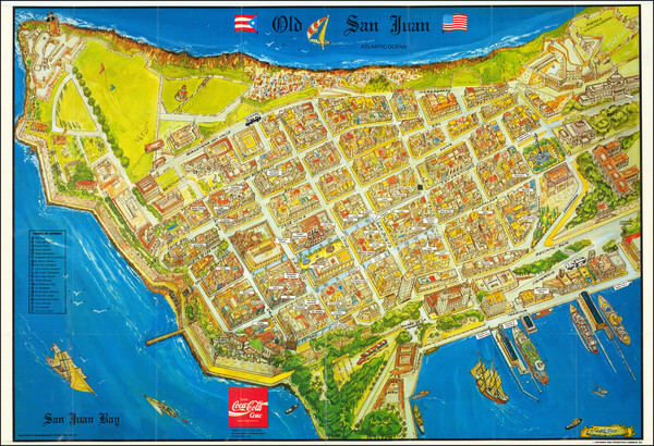 40-Puerto Rico and Pictorial Maps Map By Municipality of San Juan