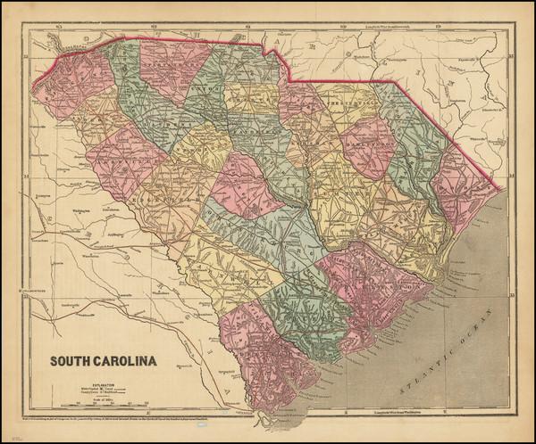 39-South Carolina Map By Charles Morse