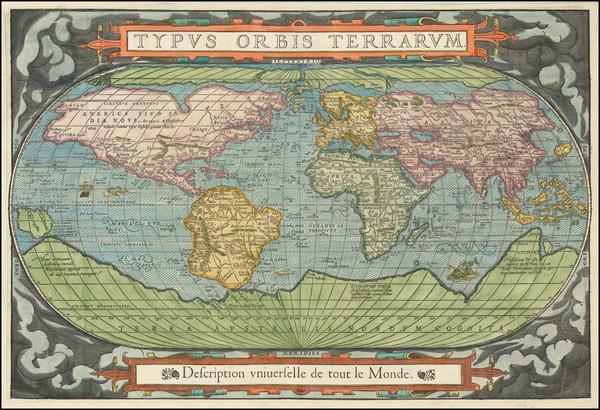 35-World Map By Francois De Belleforest