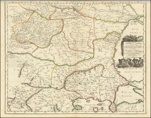 80-Romania, Serbia & Montenegro, Albania, Kosovo, Macedonia, Bulgaria and Turkey Map By Nicola