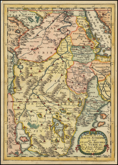 53-North Africa and East Africa Map By Nicolas Sanson