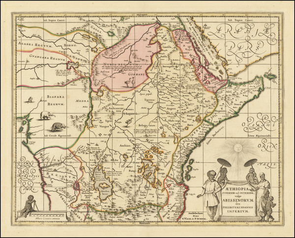 82-Africa and East Africa Map By Valk & Schenk