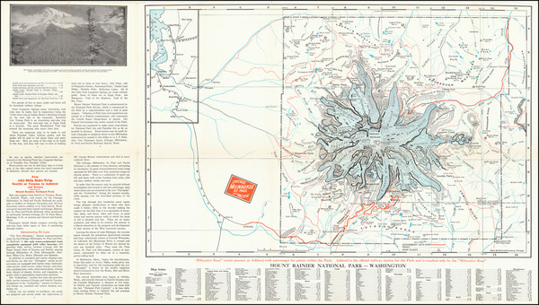 20-Washington Map By Chicago Milwaukee & St. Paul Railroad / Rand McNally & Company