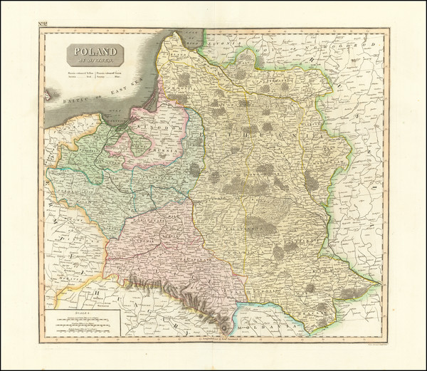21-Poland, Baltic Countries and Germany Map By John Thomson