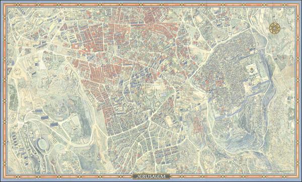 29-Holy Land Map By Hermann Bollmann