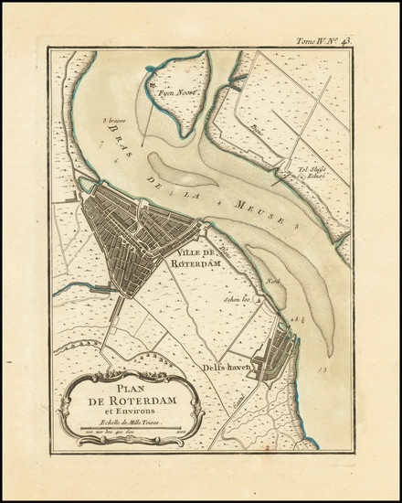 87-Netherlands Map By Jacques Nicolas Bellin